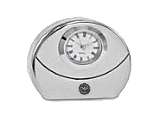 a7uSilver-Tone-Desk-Clock-with-Emblem